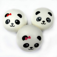 Jumbo Cute Kawaii Squishy Panda Buns Lot , for Phone/bag Pendant, Free Shipping, 4 pcs in one set! FFC023