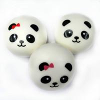 Jumbo Cute Kawaii Squishy Panda Buns Lot, with Straps, for Phone/bag Pendant, Free Shipping, 4 pcs in one set! FFC023