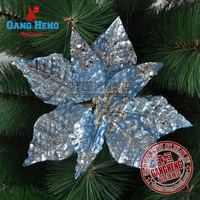 Free shipping! Christmas Tree Decoration Flower Silver Blue Flannelet  Artificial Flower Christmas Decoration Supplies