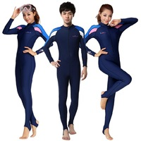 One-piece swimsuit sun protection clothing waterproof clothing submersible clothing submersible service snorkel