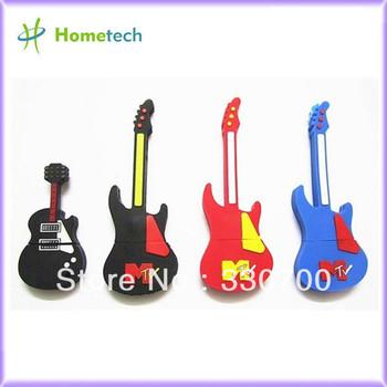 Cartoon Guitar usb flash drive promotional flash drive usb stick 1GB/2GB/4GB/8GB/16GB/32GB usb memory pendrive FREE SHIPPING