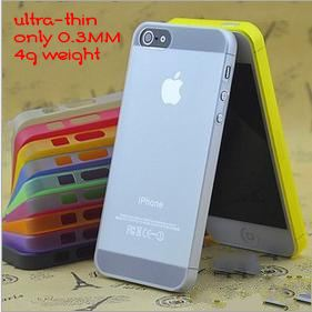 1PC Ultra-Thin 0.3MM Only 4g Weight Cover For Iphone 5 5s case(China (Mainland))
