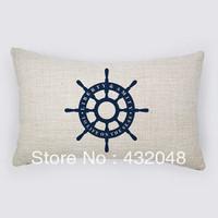 steering wheel retro style cotton pillow square pillow lumbar pillow cushion sofa cushion with core