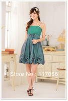 2013 new arrivals free shipping fashion crimp lantern type strap short evening dresses