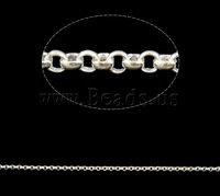 Free shipping!!!Brass Rolo Chain,Lucky Jewelry, silver color plated, nickel, lead & cadmium free, 1.5x0.6mm
