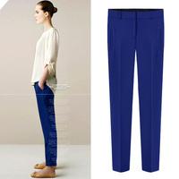 Chiffon casual long trousers summer women's fashion skinny pants pencil pants