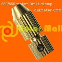 20pcs/lot  550/555motor Drill clamp  Brass diameter 8mm   Electric motor Motor fitting Free shipping