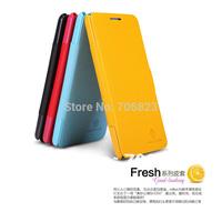 20pcs NILLKIN Slim Flip Leather Fresh Case Skin Back Cover for Lenovo P780+20pcs screen films