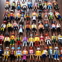 2014 New Playmobil Figures Knights People Horses Native American Random For Children Kids Baby Toy Gift 10Pcs/Lot