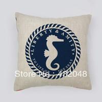 marine style the sea retro style cotton pillow square pillow lumbar pillow cushion sofa cushion with core