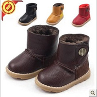 2013 Hot Sale Winter Child Boy Girl Snow Boots Laredo lace up Boots Waterproof  non-slip Cotton-padded Shoes For Kids