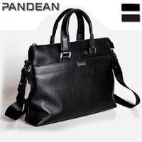 Free shipping / factory direct/ genuine leather/ men's handbag/ briefcase bag/ shoulder bag pandean mch2238-c