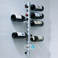 Stainless steel wine rack tubular theroom wall wine rack round tube theroom 12-bottles theroom screw