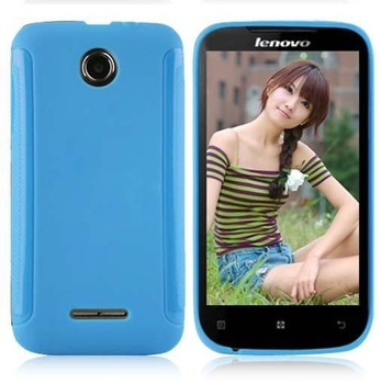 Protective Soft TPU Back Case For Lenovo A390 A390T Cell Phone Jelly Cover 6 Color free shipping