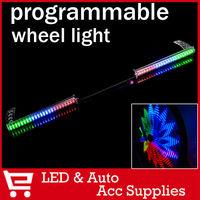 2 X 48 LED Bicycle Bike Programmable Wheel Flash Light Double-Side display 48 DIY Designs Patterns Rim Lighting RGB