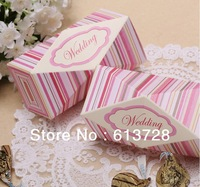 2013 Newest  polygonal striated wedding candy box ,#cb138,flat delivery