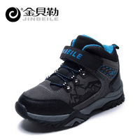 Free shipping winter Boys outdoor shoes hiking shoes high wear-resistant plus velvet walking shoes child sport shoes size:31-37