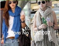 Ultralarge 2013 female ultra long candy color fluid solid color all-match pleated autumn and winter scarf