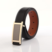Men's fashion cowhide genuine leather brief belt automatic buckle belt men's belt Free Shipping