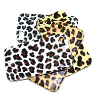 2013 New fashion sexy leopard Plastic protective cover case for iphone 4 4s 5 free 4 stles mix order shipping dropshipping