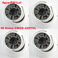 4Pcs Per Lot 420TVL 48LED 3.6Lens Indoor/Outdoor Nightvision IR Dome Camera Security Camera Free Shipping