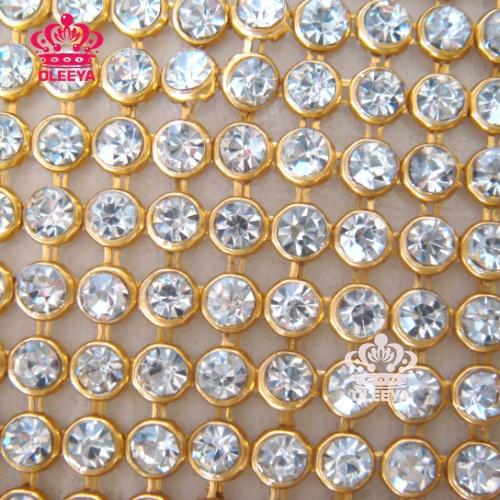 New 2013 SS10 3mm 45x120mm Crystal Clear Stones Hotfix Rhinestone Mesh Trimming Aluminium base Hotfix Pasted Sew Net Drill Y2354(China (Mainland))