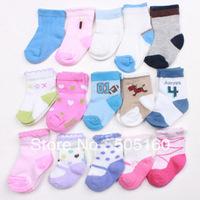 0-3 months baby socks children socks towel socks cotton terry socks (Random delivery)603752720-a