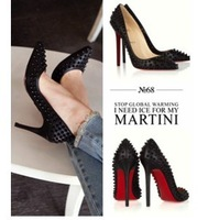 2013 women's fashion red sole shoes rivet high-heeled shoes pointed toe shoes hedgehogs3 shoes