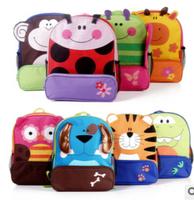 Cute Zoo Cartoon baby School shoulder schoolbags Bolsas  Canvas Backpack for girl boy  Kids bag  Mochila escolar bebe Knapsack
