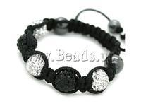 Free shipping!!!Rhinestone Shamballa Bracelets,Wedding, rhinestone pave bead, with Nylon Cord & Non-magnetic Hematite, woven
