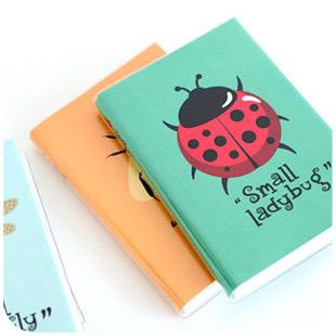 [YMLP] Notebook korea school supplies stationery cute kawaii Cartoon insect line notebook(China (Mainland))