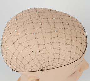 nylon hand pearl  hairnet/fashion hairnet cap/women acessories /hot selling in 2013