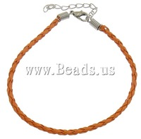 Free shipping!!!PU bracelet cord,Wholesale 2013 Jewelry, with Iron, brass lobster clasp, with 2.5lnch extender chain