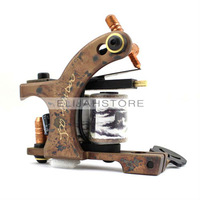 8803 Copper Carved Lettering Tattoo Machine Gun