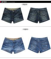 2013 new summer autumn cotton women slim cotton denim short, lady denim short jeans, 2 color option