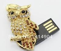 Real capacity Crystal owl shape 1GB 2GB 4GB 8GB 16GB 32GB usb flash memory drive