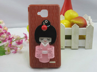 New Novelty 1PC Free Shipping Bulk 2012 New arrival jiayu G3 3D Cute Doll Cartoon Flower Case Cover black brown dark blue green