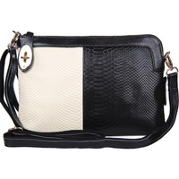 Women Messenger Bag Clutch Bags For Women 2014 Genuine Leather Serpentine Pattern Cowhide Large Clutch Women's Leather Handbags