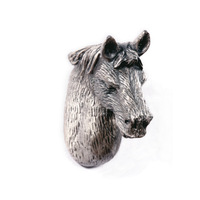 New classical European contracted style simple cupboard door drawer knobs ancient silver furniture handle/horse head pulls