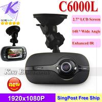2013 New Car blackbox DVR 140 degree 1920*1080P HD G-sensor HDMI Motion detection Dashboard video camera GF6000L free shipping
