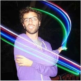 Colorful laser light finger 1 card