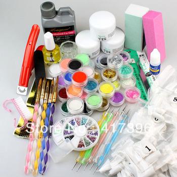 Pro Nail Art Acrylic Powder Color Set with Glitter Acrylic Liquid
