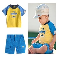 Retail, Baby Boys Set, Crocodile Model (Shirt+Shorts)2pcs Casual Set, Baby Boys Summer Set, Free Shipping IN STOCK