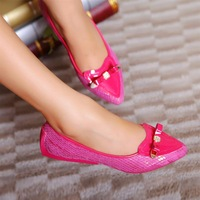 New arrival 2013 genuine leather female shoes fashion sweet brief flats single shoes women's shoes plus size