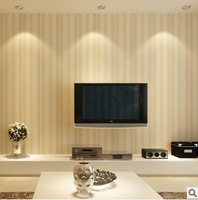 Free shipping hight quanlity stripe wall paper for living room size 10m*0.53m=5.3 square meters per lot