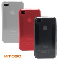 Kmoso 4  for apple    for iphone   mobile phone case shell rinsible set silica gel scrub soft protective case