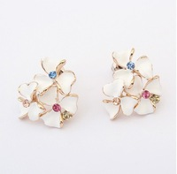 Min.order is $15(mix order)2013 boutique Earrings - fashion jewelry,Korean fashion exquisite flower earrings
