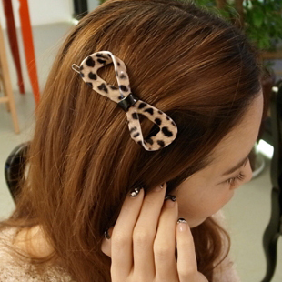 T819 Hair accessory acrylic side-knotted clip hairpin clip quality clip bow hair accessory