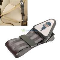 Safety Car Seat Belt Adjuster Adjustable Lock Buckle Strap for Child Kids S7NF