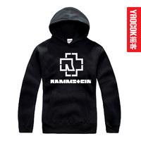 Sweatshirt heavy metal band rammstein with a hood sweatshirt